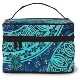 化粧ポーチ 緑の花 化粧品バッグ 防水 多機能 大容量 持ち運び便利 旅行する