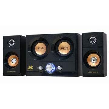 JS淇譽 雷霆雙重低音全木質三件式喇叭(JY3051)