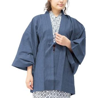 [キョウエツ] 旅館羽織 単品 レディース (M, 青)