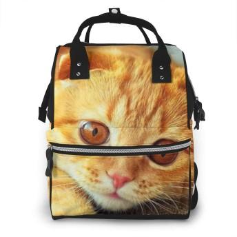 ミイラバッグ トートバッグ マザーズバッグ ママバッグ マザーズリュック オレンジ色の猫 ベビー用品収納 おむつポーチ 大容量 ポケット付き