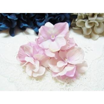 布の花 アジサイ カボション加工パーツ