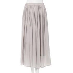 【INGNI:スカート】ヴィンテージサテンギャザー スカート