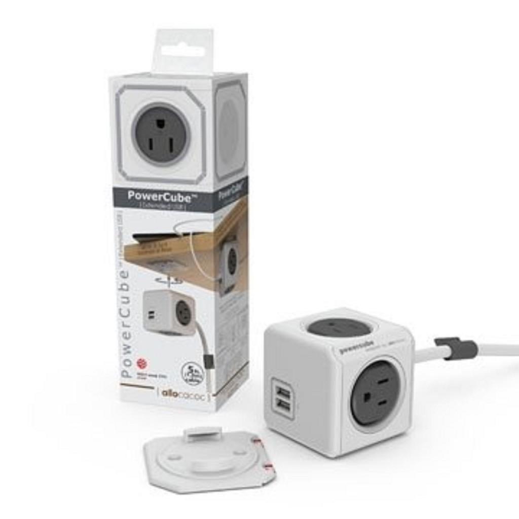 PowerCube  遙控延長線4插座3孔 1.5米  遙控灰