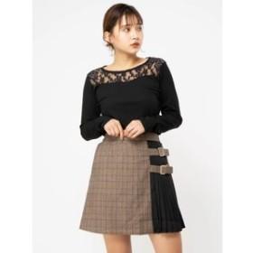 【CECIL McBEE:スカート】サイドプリーツミニスカート