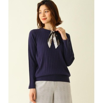 SHOO・LA・RUE/Mrs.(シューラルー/ミセス) スカーフ付ニットプルオーバー