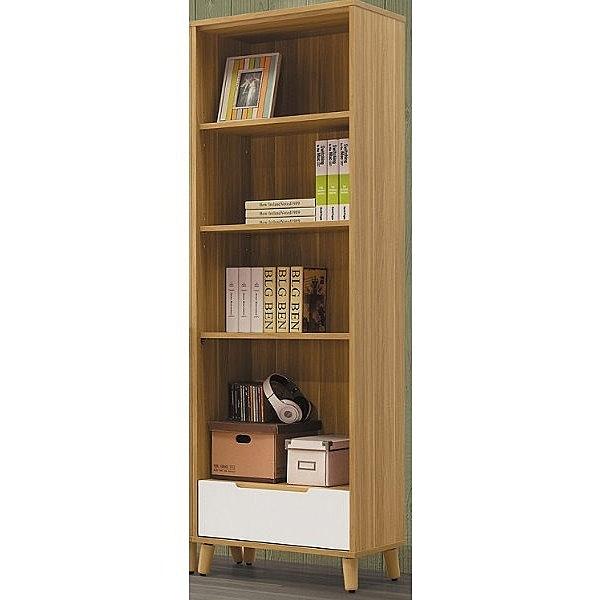 書櫃 書櫥 CV-617-6 肯詩特烤白雙色2尺一抽書櫃【大眾家居舘】