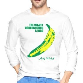 メンズ Tシャツ 長袖 ティーシャツ ロングスリーブ ヴェルヴェットアンダーグラウンド トレーナー ロンT クルーネック カットソー 薄手 部屋着 インナー おしゃれ シンプル 無地 カジュアル スポーツウエア トップス 4色 大きいサイズ