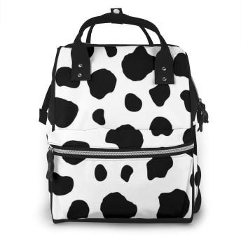 ミイラバッグ トートバッグ マザーズバッグ ママバッグ マザーズリュック かわいい牛柄 ウシ柄 ベビー用品収納 おむつポーチ 大容量 ポケット付き