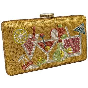 ヨーロッパとアメリカのスタイルカクテルビーチモードラインストーン宴会クラッチバッグホットダイヤモンドバッグイブニングバッグ結婚式ゴールドカラーバッグ 美しくて丈夫 (Color : Gold)
