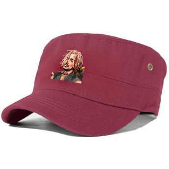 LIL Pump 人気 ワークキャップ キャップ 帽子 メンズ ミリタリー ワンポイント シンプル 通気性 サイズ調整 綿 無地 春 秋 冬 撥水加工
