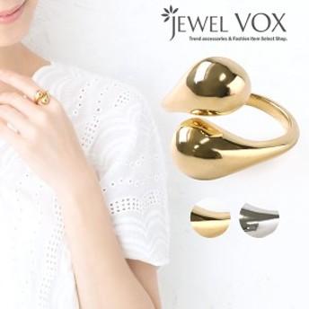 【ネコポス送料無料】 リング 指輪 フリーサイズ メタル 金属アレルギー ワンポイント 重ねづけ 重ね付け 重ね着け  ゴールド シルバー