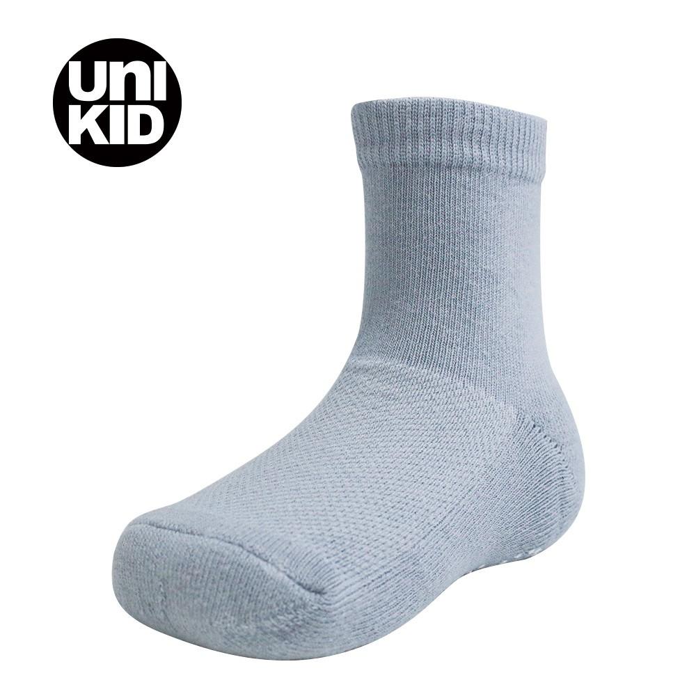 【多雙優惠】UNI KID 兒童直版短筒止滑襪 灰色【12 - 16 CM】棉襪 萊卡編織 無毒 襪子 童襪 止滑