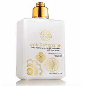 Body Cupid Vanilla and Almond Milk Extra Moisturizing Hand and Body Lotion, Enriched With Almond Milk & Vanilla Beans Extract, 250 ml