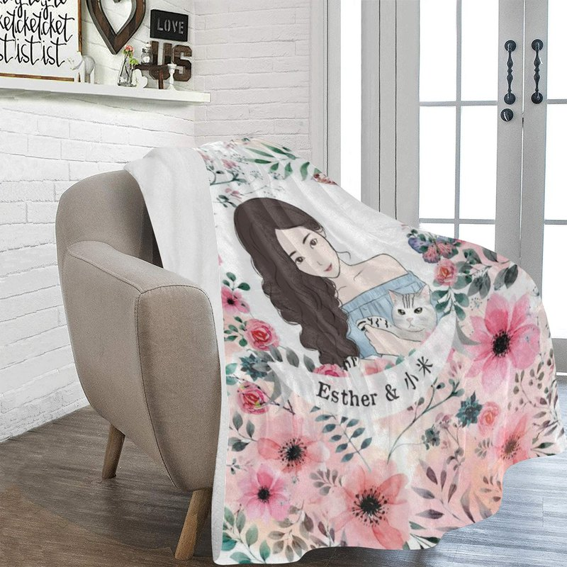 情人節禮物首選-個人化禮物, 香港插畫毛毯定製。 為你帶來溫暖和好心情。快樂時光中的溫暖床伴~ *插畫定製包括兩人頭像插畫,可另外發高清圖檔。