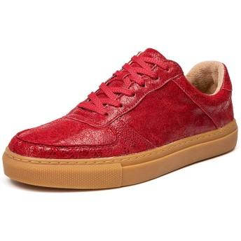 ノンスリップランニングシューズ スポーツシューズレースアップスタイルスキンクラシックレジャーSneakertのためにファッションメンズスポーツシューズ (Color : Red, Size : 38 EU)