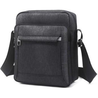 夏のメンズバッグショルダーバッグスポーツ紳士用バッグ防水オックスフォード布クロスボディ男性 ビジネスバッグ (色 : Black, サイズ : L)