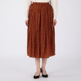 MELROSE CLAIRE(メルローズ クレール)/アニマルライクプリントプリーツスカート