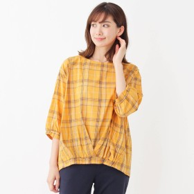 SHOO・LA・RUE(シューラルー)/リボンカフスプリントシャツ