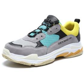 [You Are Fashion] 女性と男性の屋外アスレチックレースアップレジャーシューズ安全ブーツ屋外通気性男性靴 (Color : Yellow Green, サイズ : 24.5 CM)