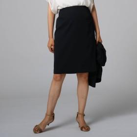 UNTITLED(アンタイトル)/ポリジンツイル膝丈スカート