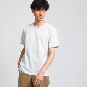 TAKEO KIKUCHI(タケオキクチ:メンズ)/メランジドットカノコ Vネック Tシャツ