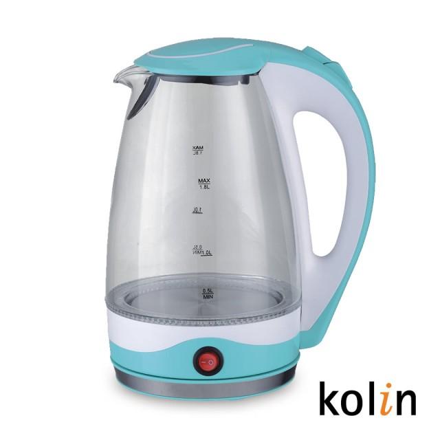 Kolin 歌林 1.8L玻璃保溫快煮壺 KPK-DL1805G