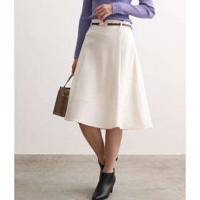 ViS(ビス)/【EASY CARE】ウォッシャブルフラノ合皮ベルト付フレアスカート