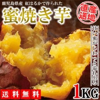 焼き芋 冷凍焼き芋 1kg 送料無料 さつまいも べにはるか 紅はるか 産地直送 産直 さつま芋 薩摩芋 焼きいも 石焼き芋 芋 鹿児島県産