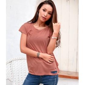 anap Latina(アナップラティーナ)/スラブダメージゆるTシャツ