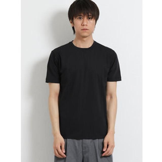 【m.f.editorial:トップス】コットン天竺クルーネック半袖Tシャツ