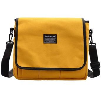 女性の単色キャンバスバッグシンプルな大容量ショルダークロスボディバッグ 韓国風 斜め掛け 肩掛け 鞄 かばん 軽量 通勤 通学 日常 旅行 結婚式 二次会 パーティー おしゃれ 人気