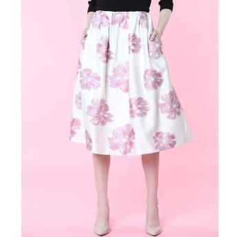 【エフデーゼ/EFDEISEE】 《Maglie par ef-de》コットンローズタックギャザースカート