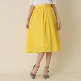 Couture Brooch(クチュールブローチ)/【WEB限定サイズ(S・LL)あり】フロントボタンミディ丈スカート