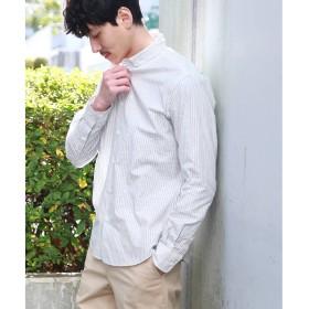 TAKEO KIKUCHI(タケオキクチ:メンズ)/シャドーリーフストライプシャツ[ メンズ トップス シャツ ボタンダウン ]