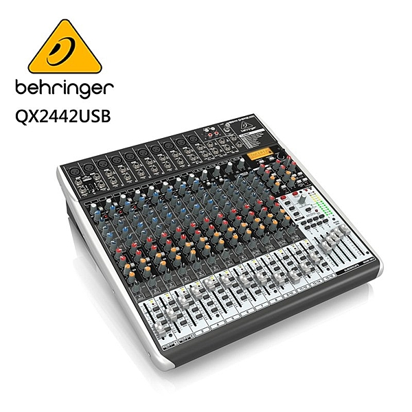 BEHRINGER- QX2442USB專業級小型混音器(具XENYX麥克風前置放大器和壓縮器)