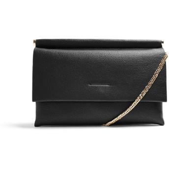 《セール開催中》TOPSHOP レディース ハンドバッグ ブラック ポリウレタン 100% CLARA BLACK CLUTCH BAG