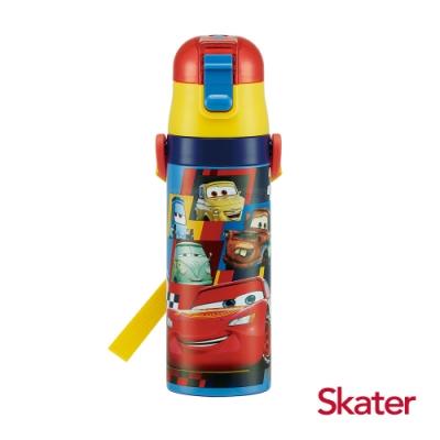 Skater 直飲470ml不鏽鋼水壺 閃電麥昆 黃藍