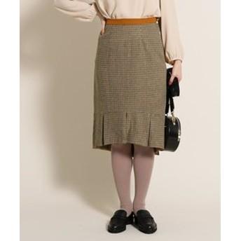 【anatelier:スカート】【WEB・一部店舗限定】Supreme. La. La.裾タック前後差スカート