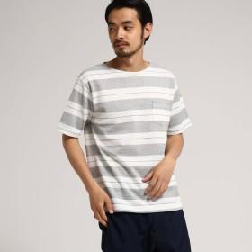 BASE CONTROL(ベースステーション:メンズ)/G ワッフル ボーダー 半袖 Tシャツ
