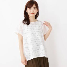 SHOO・LA・RUE(シューラルー)/【2点セット】花柄シアーシャツ+タンクトップ