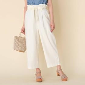 Couture Brooch(クチュールブローチ)/【洗える】麻レーヨンリボンベルトパンツ