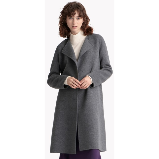 【Theory】New Divide Luxe Cloak Coat DF