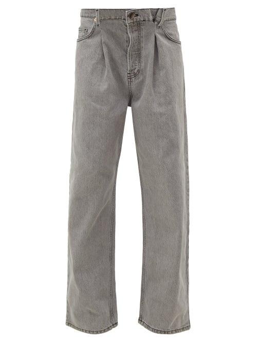 Raey - Fold Dad Baggy Boyfriend Jeans - Womens - Light Grey