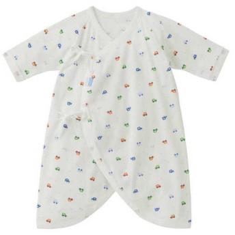 新生児 ミキハウス ホットビスケッツ コンビ肌着 ブルー インナー・パジャマ 新生児・乳児(50~80cm) コンビ肌着・長下着 (36)