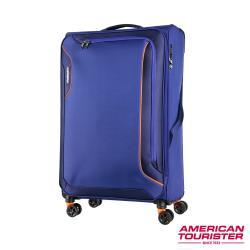 AT美國旅行者 30吋Applite 3.0S 輕量可擴充布面TSA飛機輪行李箱(藍紫)-DB7*61004