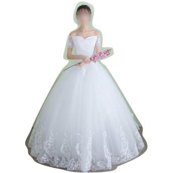 Sportgosto 大きいVネック妊娠中の女性のためのウェディングドレス (サイズ : XL)