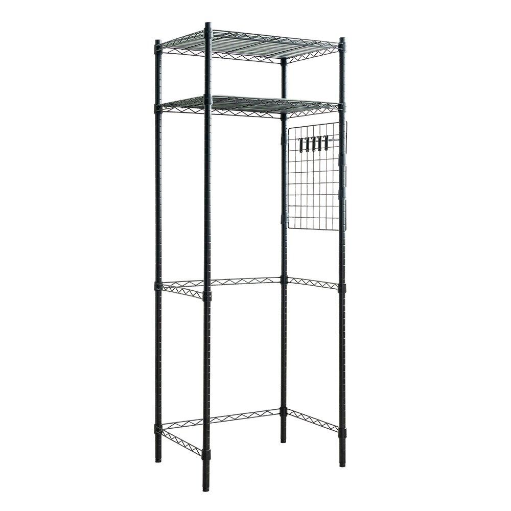 層架/波浪架/廚房架 輕型60X45X180公分廚房冰箱架(含PP板+掛勾)  dayneeds