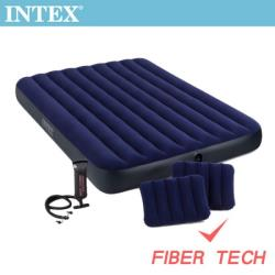 INTEX 經典雙人充氣床-寬152cm-特惠組合(附手壓幫浦+枕頭*2)(64765)