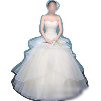 Sportgosto ノースリーブの女性の夜会服の花嫁衣装のウェディングドレス (サイズ : M)