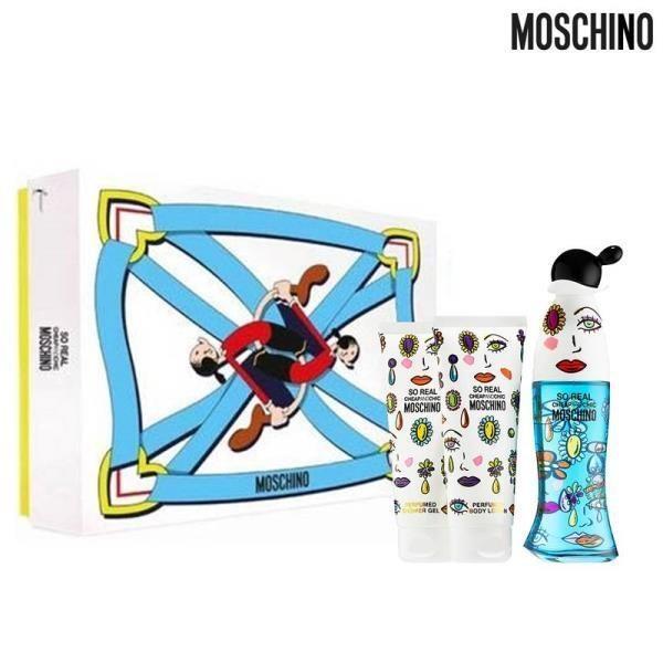 Moschino So real 限量禮盒 (淡香水50ml+沐浴精100ml+身體乳100ml)